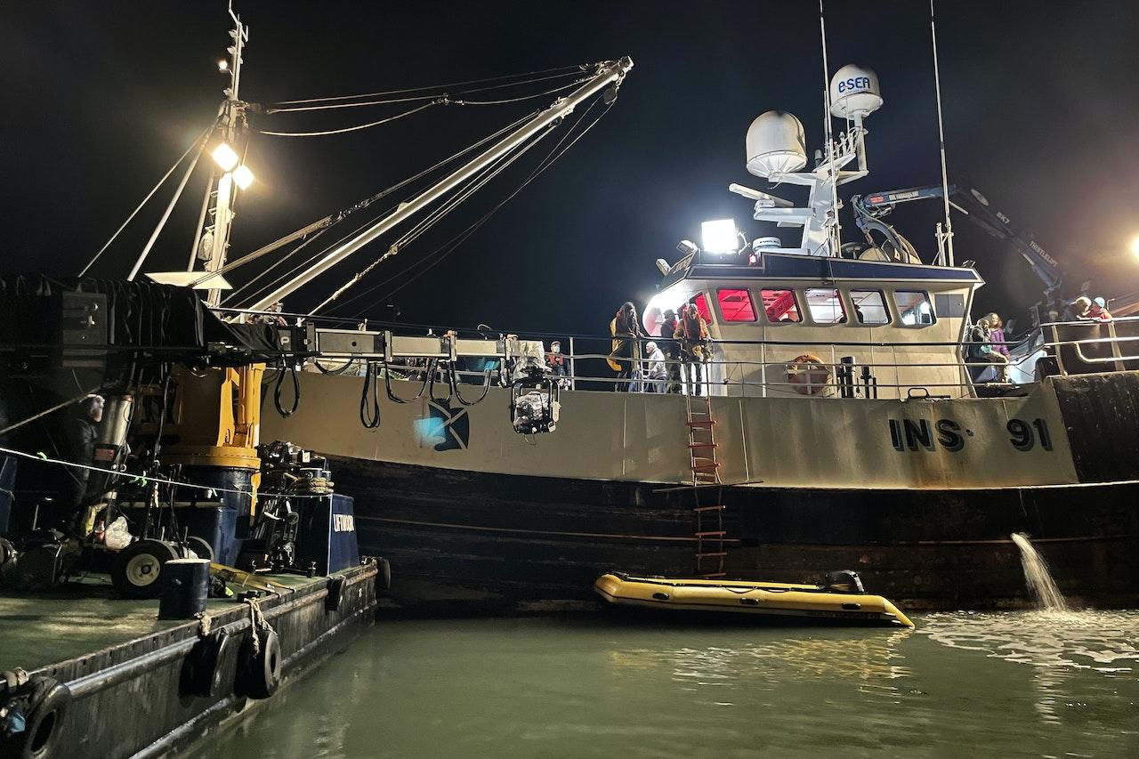 Camera Crane Boat with Trawler