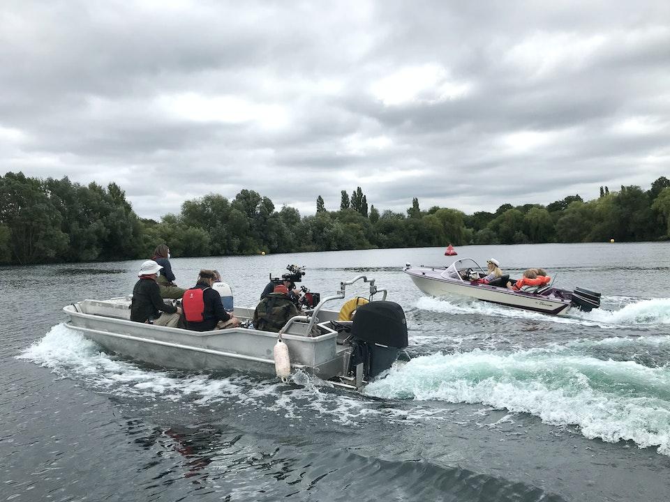 Small Camera Boat tracking Hero Speedboat