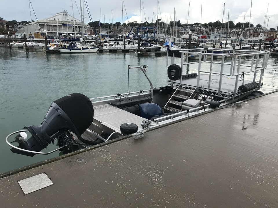 Large Camera Boat with 8' x 8' 'bolt-on' Camera Platform