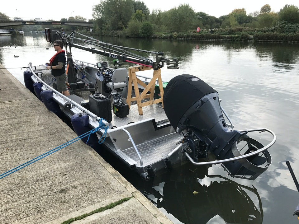 Large Camera Boat - building the Crane on 'A Discovery Of Witches'
