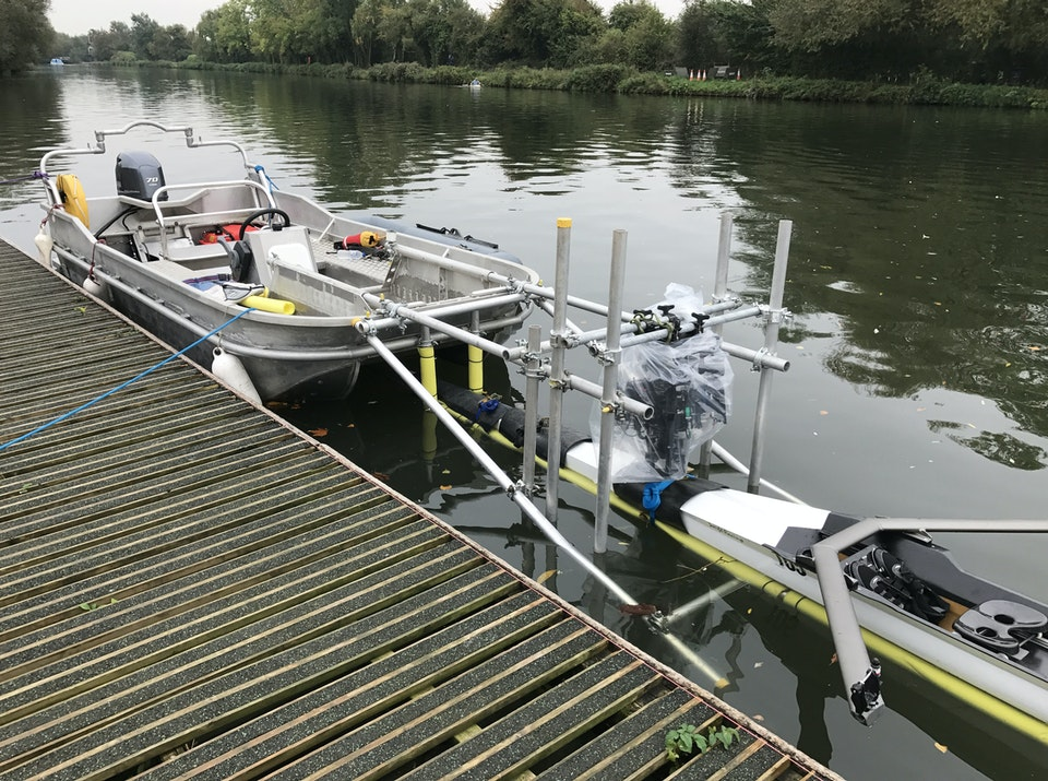 Small camera Boat on 'A Discovery Of Witches' TV Drama with Camera & Hero Boat Rig