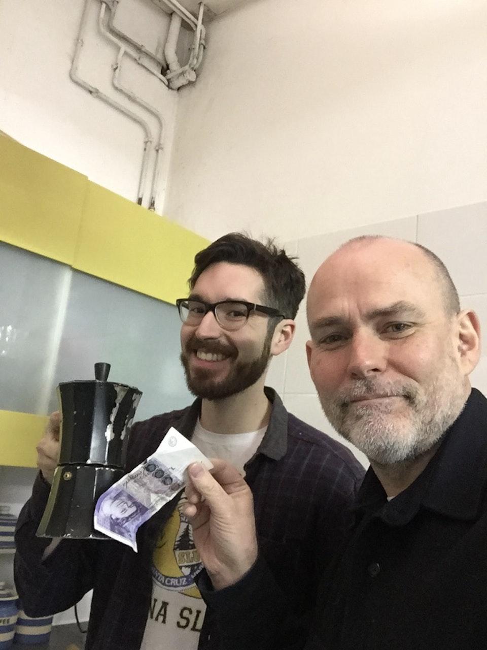 Cross Street Studio - Jackson - the Cross Street SM from Melbourne, charging DOP Simon Paul £20 for Coffee!