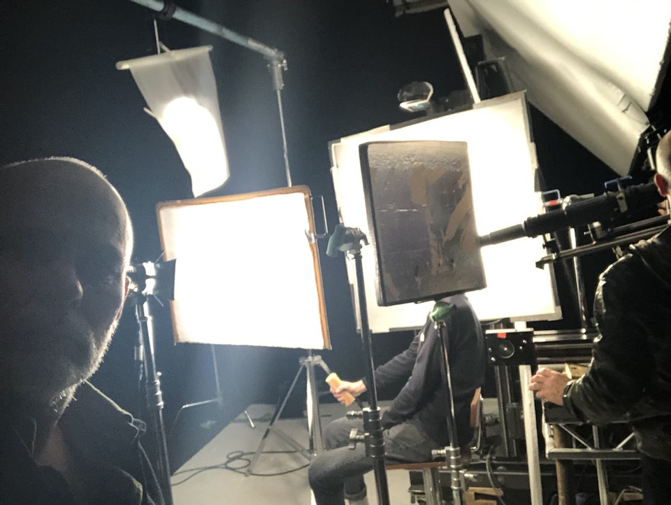 Cross Street Studio - 'Friends Electric' - Samsung shooting with the Cross Hire Optex Excellence.
