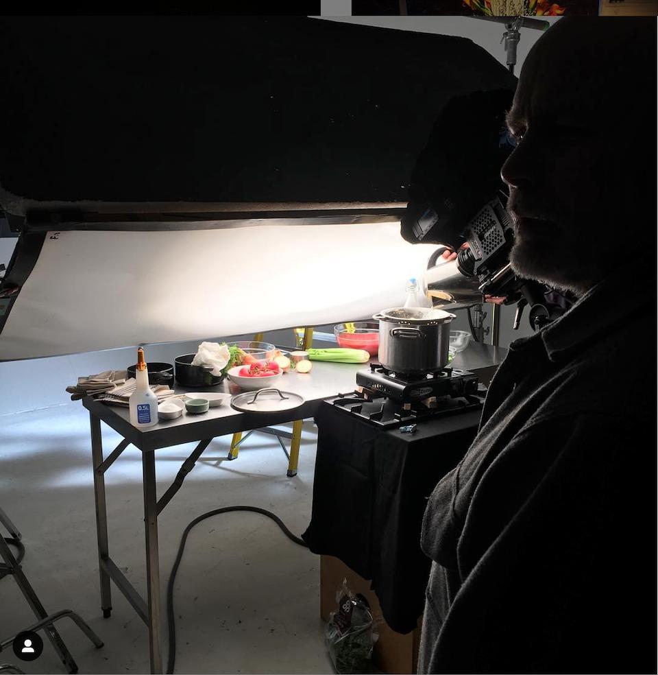Cross Street Studio - Shooting 'Igloo' pack shots for Elena Sanz at Hogarth Worldwide.