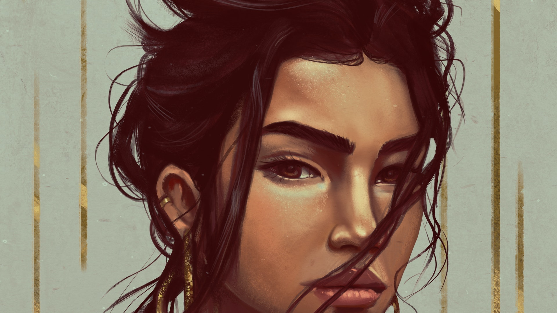 gIRL wITH GOLD EARINGS2