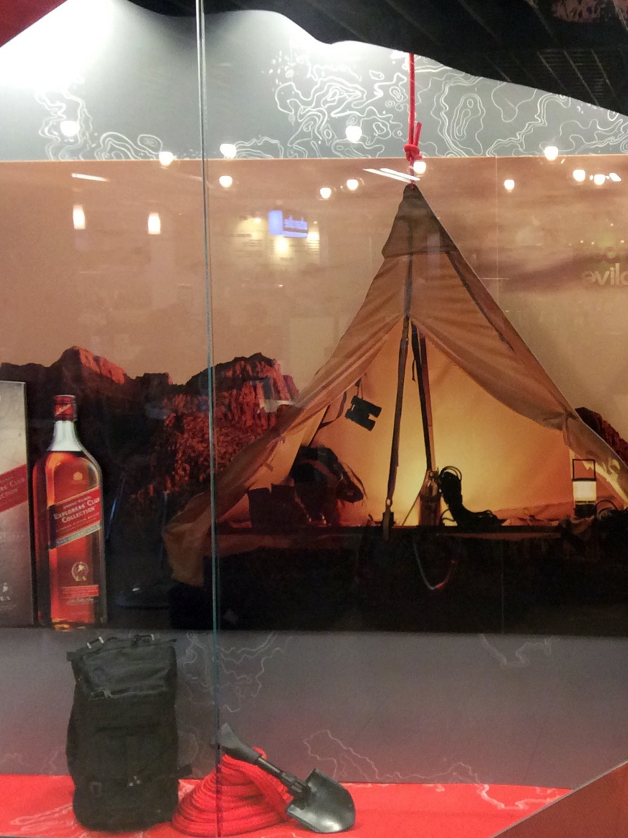 JOHNNIE WALKER THE ADVENTURER WINDOW DISPLAYS