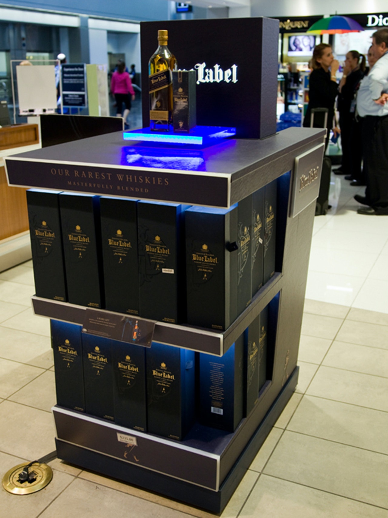 JOHNNIE WALKER BLUE LABEL DISPLAYS