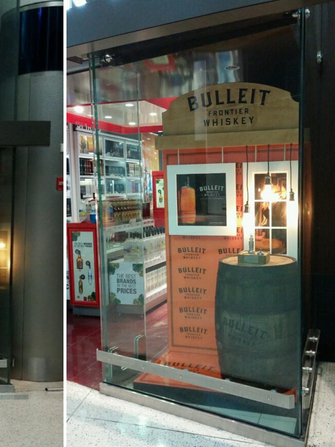 BULLEIT BOURBON DISPLAY  HOUSTON INTL. AIRPORT