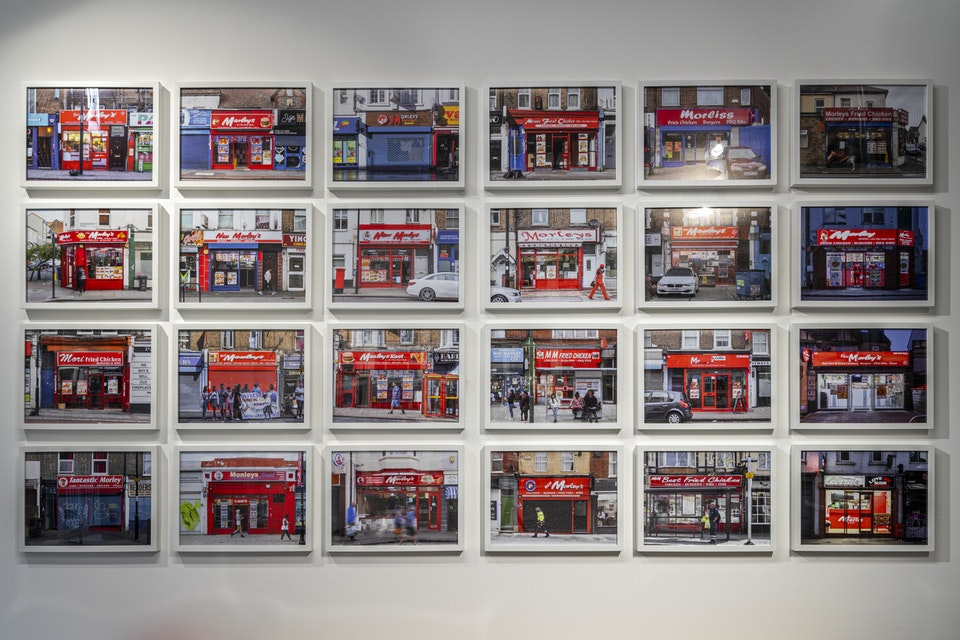 Morley's or Less - One of the grids of framed prints