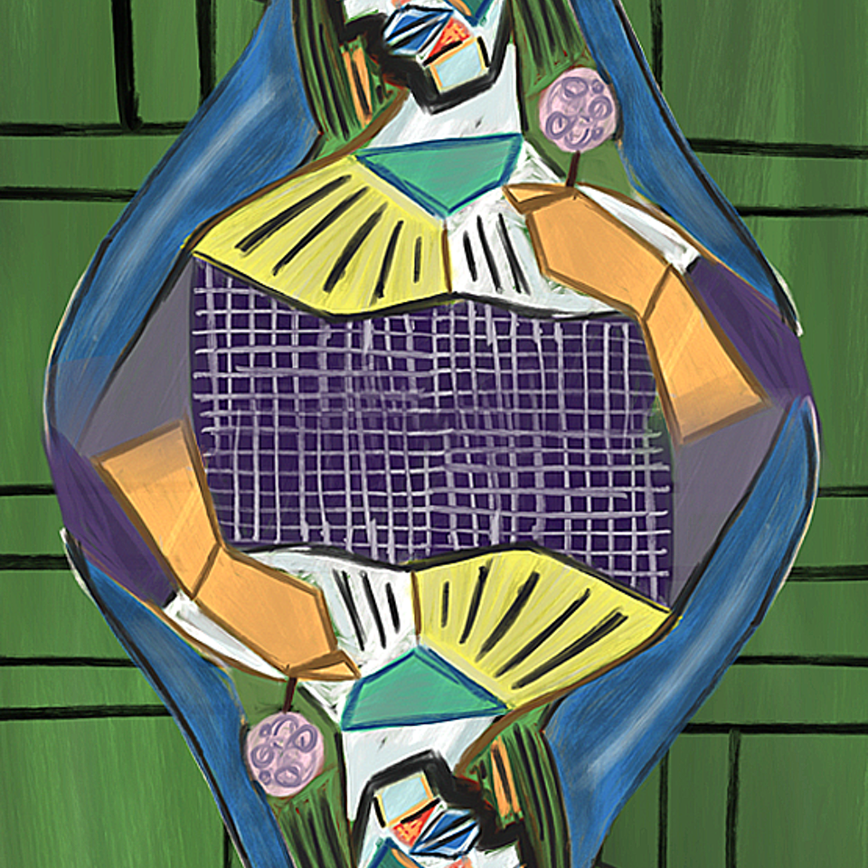 If famous artist designed playing cards Pic-Queen