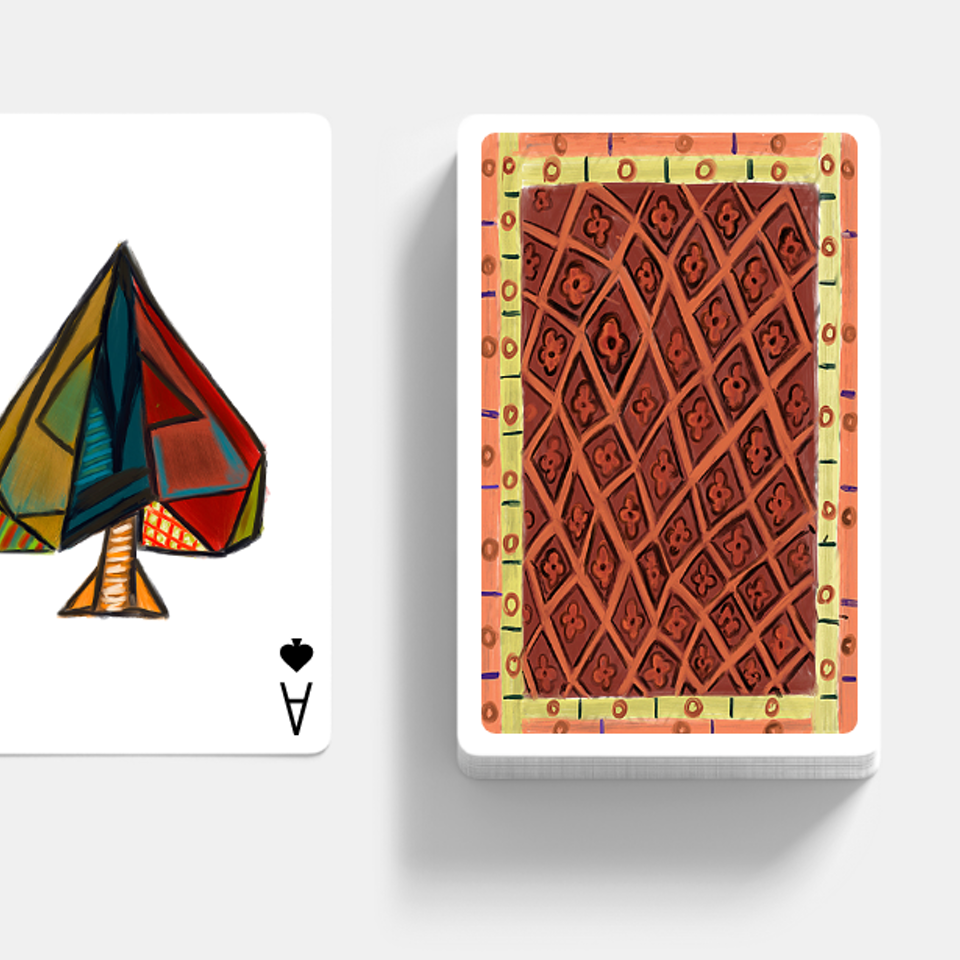 If famous artist designed playing cards card illustrations