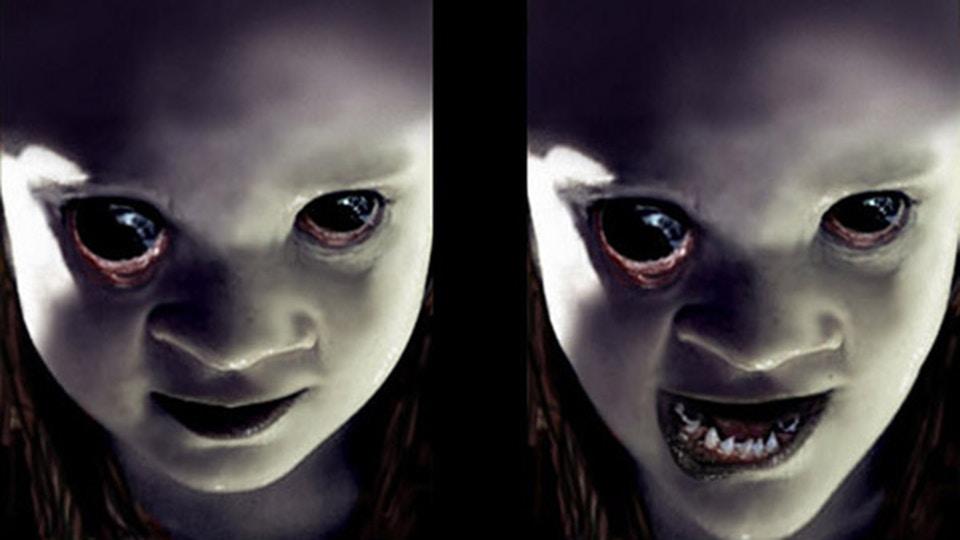Girl horror face