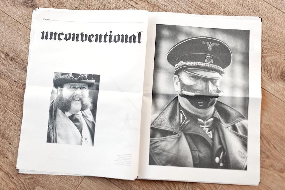 unposed newspaper