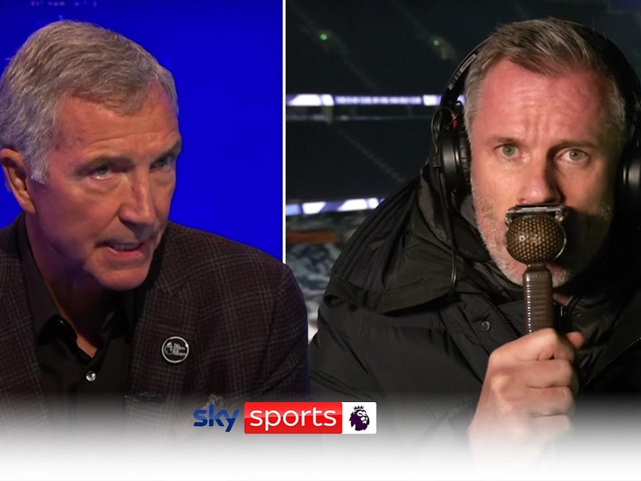 Jamie Carragher & Graeme Souness clash over Jordan Pickford's tackle on Virgil Van Dijk!