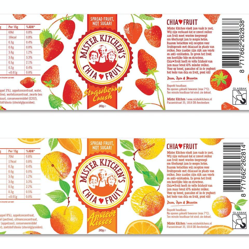 Mr Kitchens labels strawb,-apricot