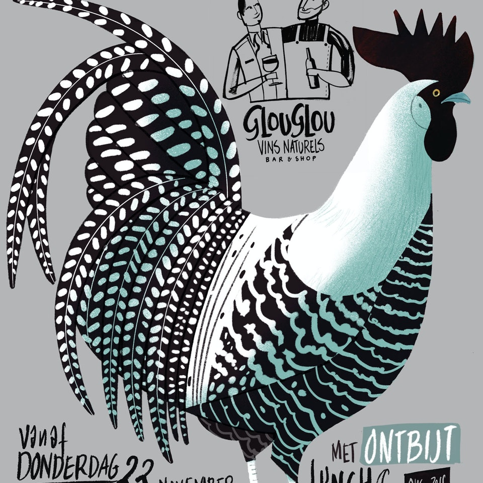 Glouglou natural wine lunchposter