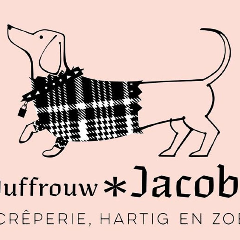 Lettering jufvrouw-jacoba crepes