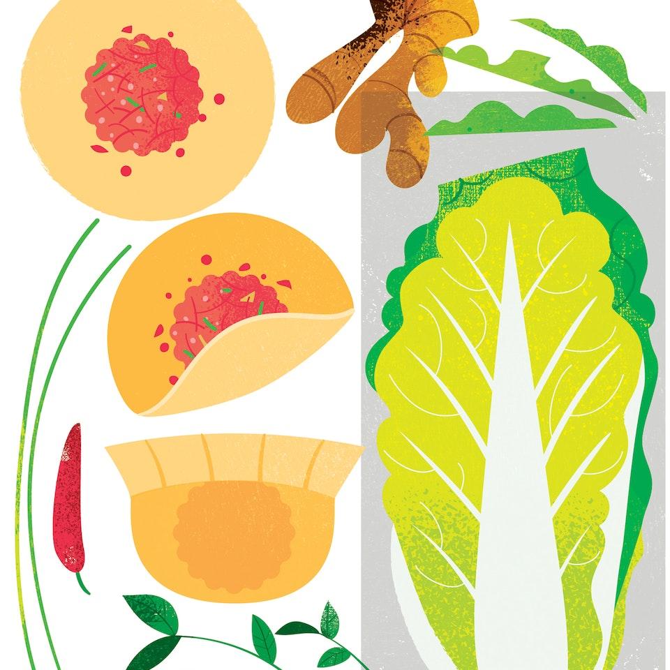 Vegetables potstickers