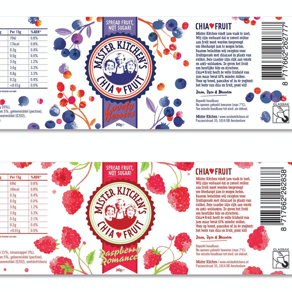 Mr Kitchens labels berries,-raspberry