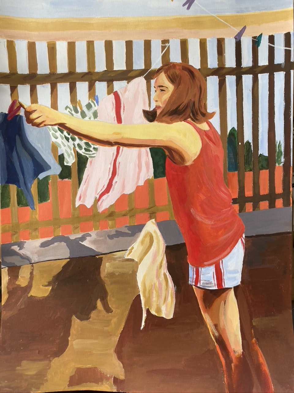 Everyday - Washing to the West - 2020 - Acrylic on Paper - 30 x 42 cm
