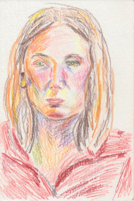 Portraits - Self - 2020 - Pencil on Watercolour Paper - 10 x 15 cm A6