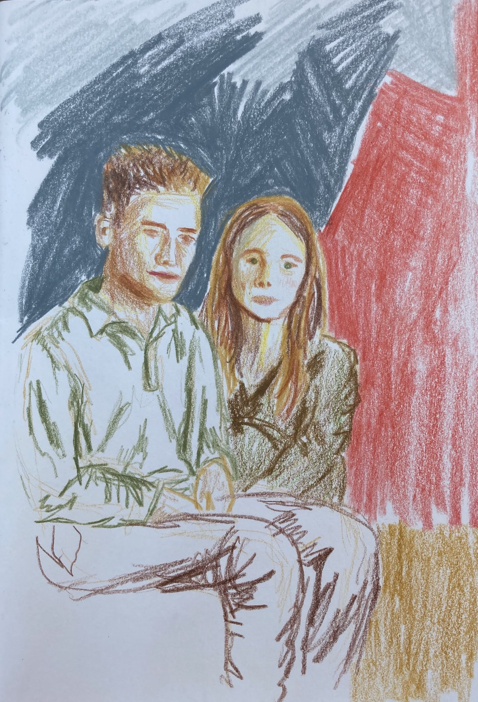 In Situ - Henry and Emma - 2020 Colour Pencil on Paper - 15 x 21 cm A5