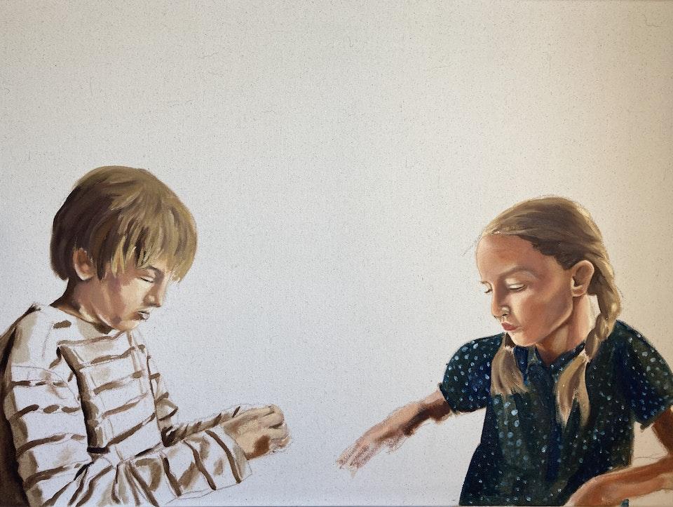 Realised Work - Elias and Saskia - 2020 - Oil on Canvas - 80 x 60 cm