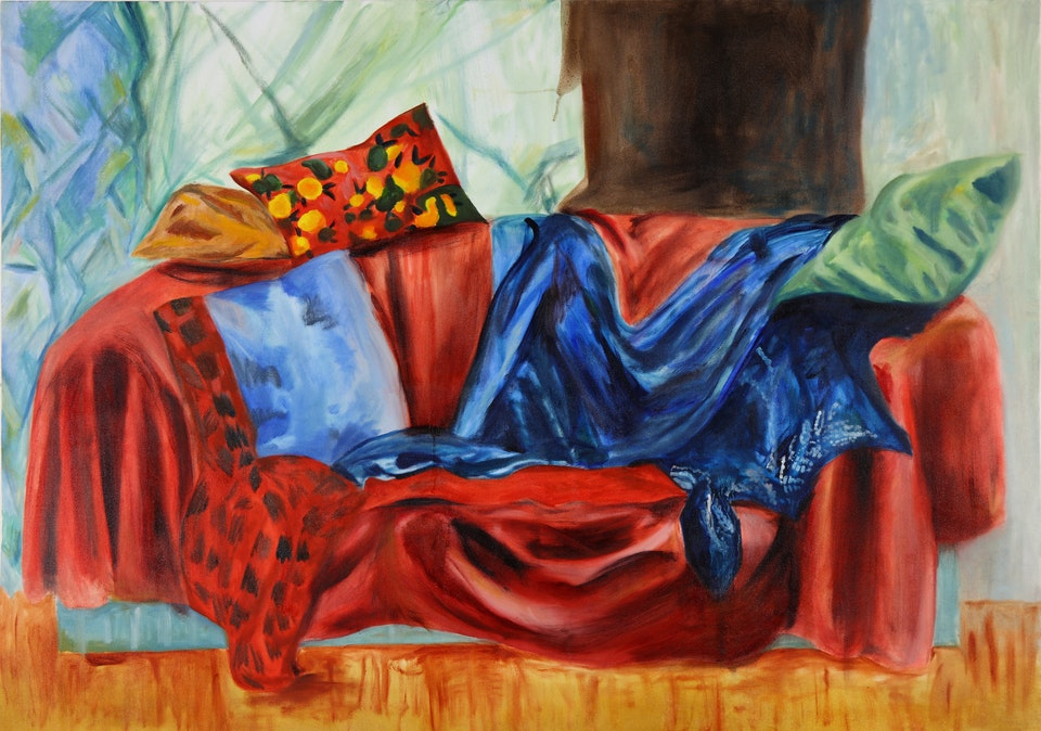 Interiors - Red - 2018 - Oil on Canvas - 91.5 x 121 cm