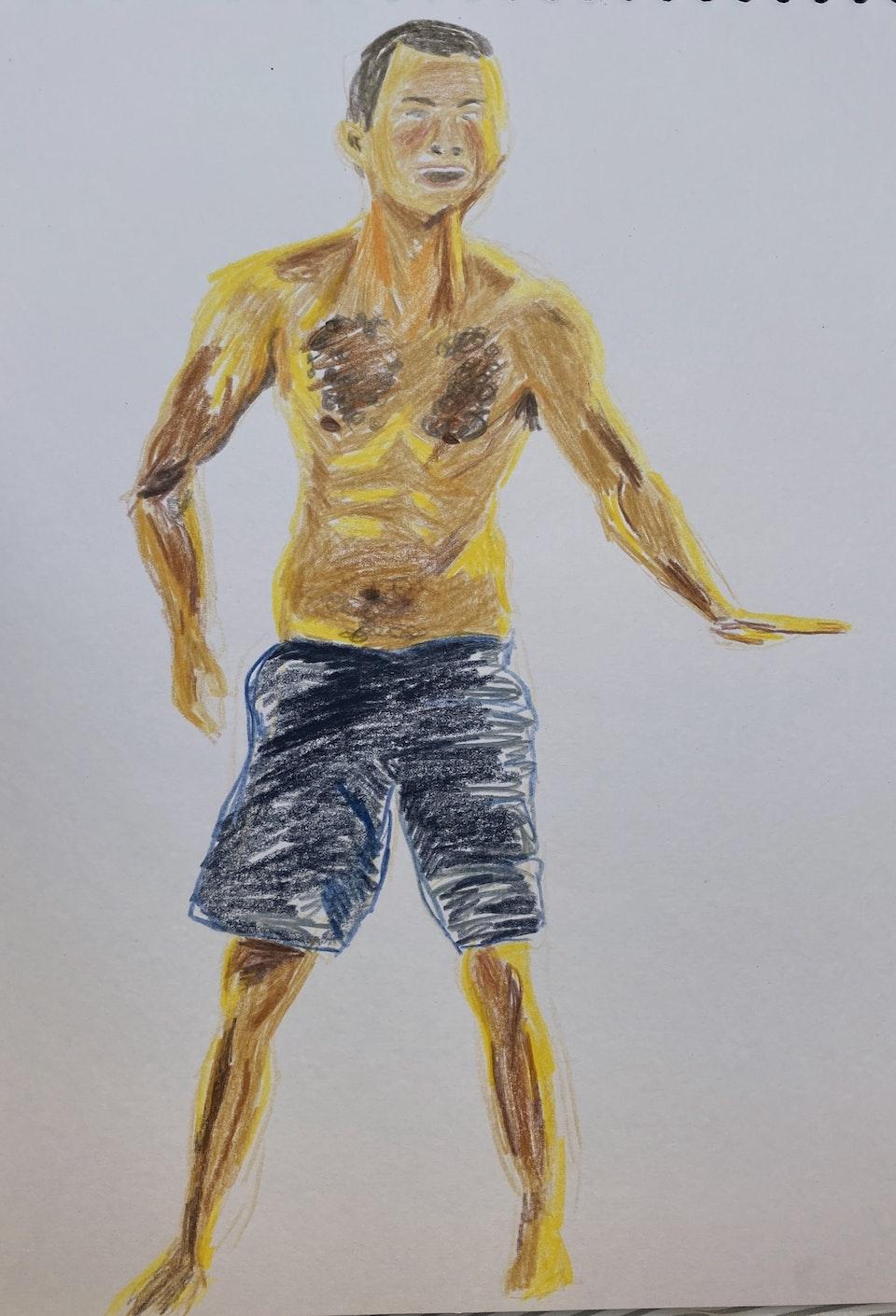 Portraits - Gustav - 2020  - Pencil on Paper - 21 x 29 cm A4