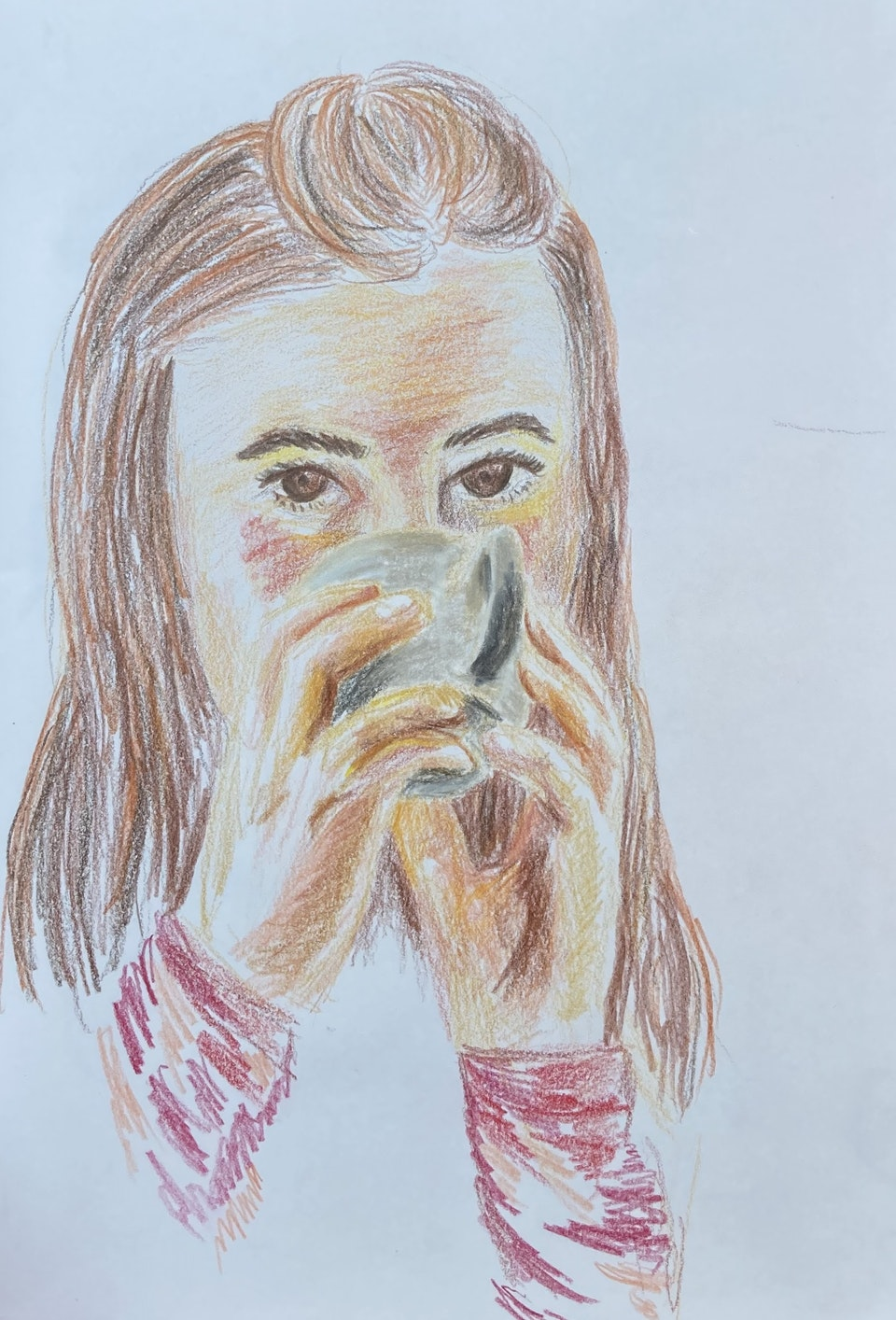Portraits - Lavinia - 2020 - Colour Pencil on Paper - 15 x 21 cm A5