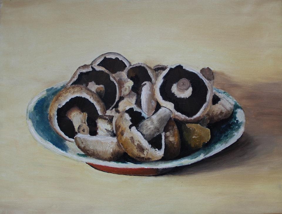 Nature - Mushrooms - 2015 - Oil on Canvas