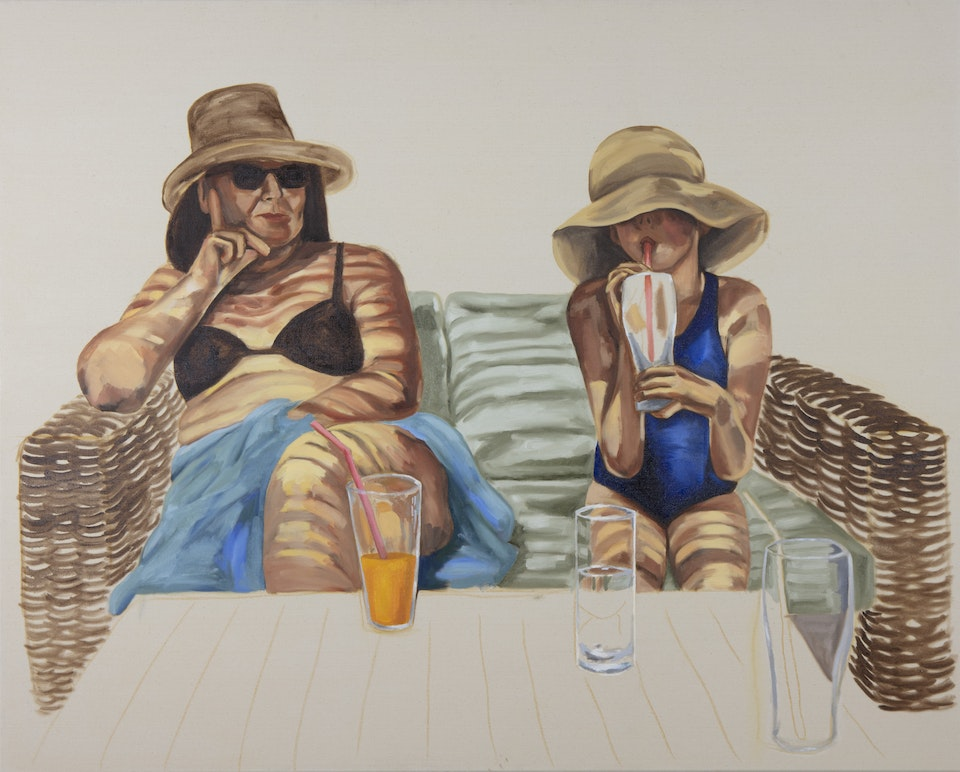 Pairs - Two Hats and Three Straws - 2020 - Oil on Canvas - 120 x 150cm