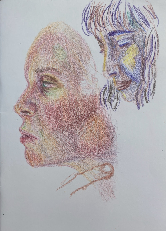 Portraits - Mathildas Face - 2020 - Pencil on Paper - 15 x 21 cm A5