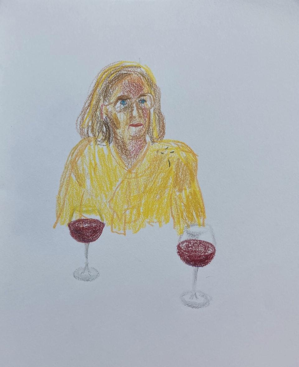 Portraits - Mormor Paris - 2020 - Pencil on Paper - 15 x 21 cm A5