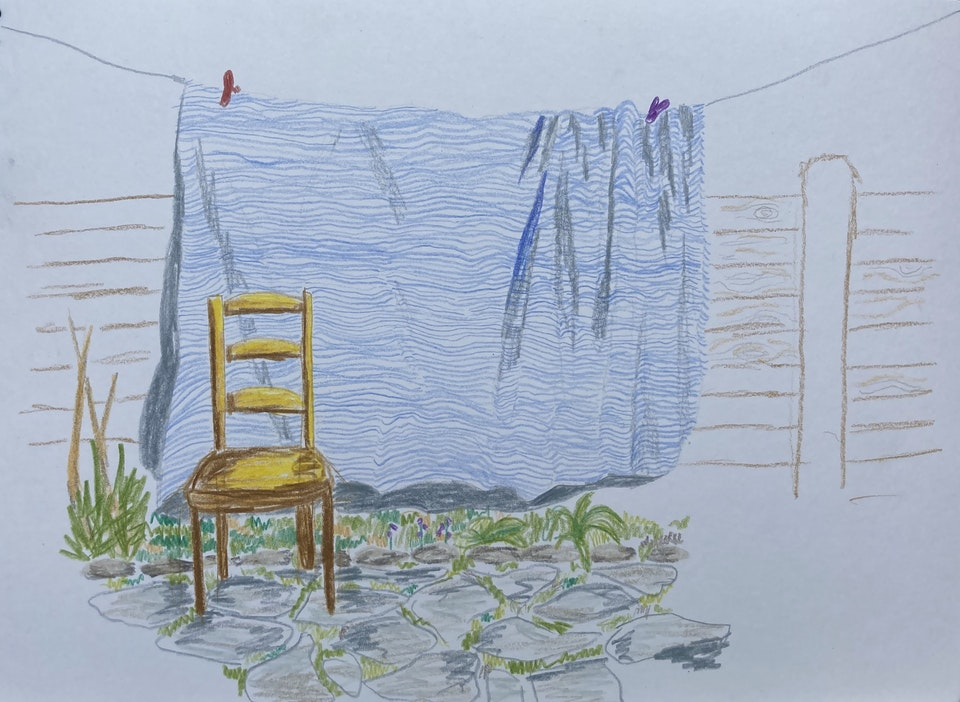 Domestic - Washing - 2020 - Colour Pencil on Paper - 21 x 29 cm A4