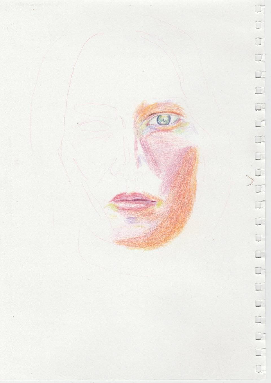 Portraits - My Face - 2020 - Pencil on Paper - 21 x 29cm A5