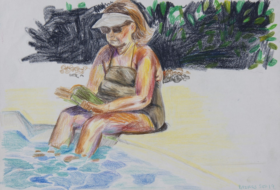 Realised Work - Mormor Pool - 2020 - Pencil on Paper - 21 x 29 cm A4