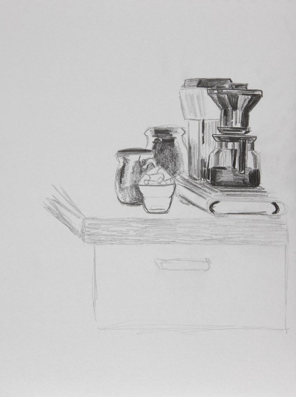 Domestic - Coffee - 2020 - Pencil on Paper - 21 x 29 cm A4