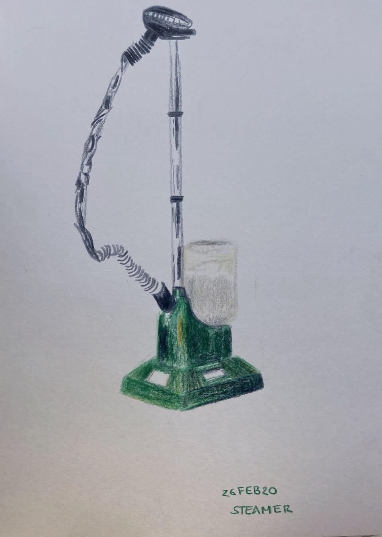 Domestic - Steamer - 2020 - Pencil on Paper - 21 x 29 cm A4