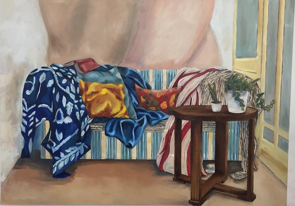 Interiors - Stripes -  2019 - Oil on Canvas - 100 x 125 cm