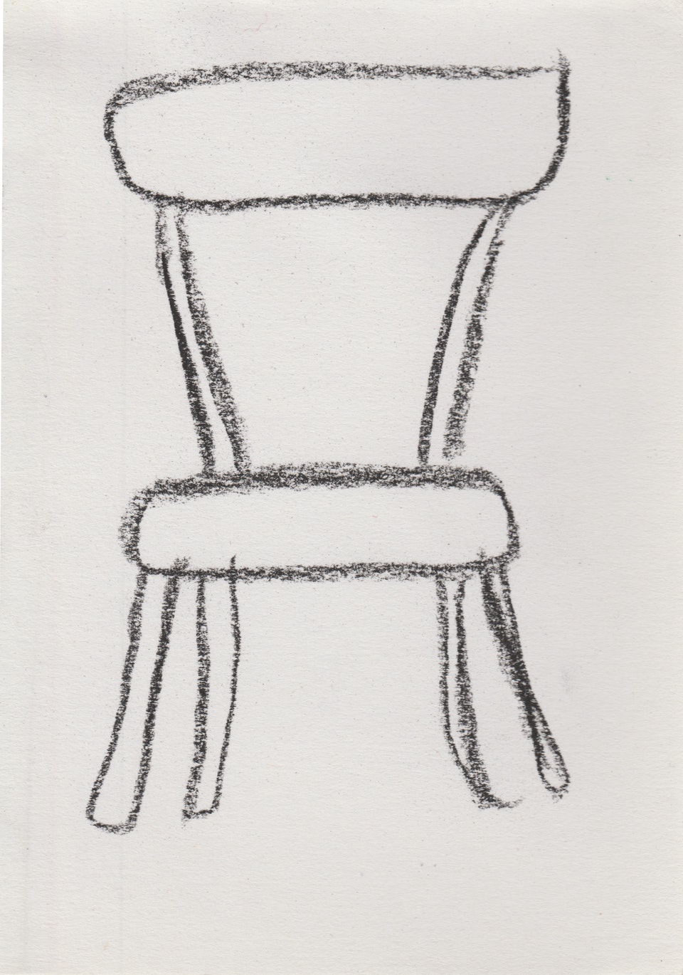 Domestic - Chair - 2020 - Charcoal on Paper - 10 x 15 cm A6