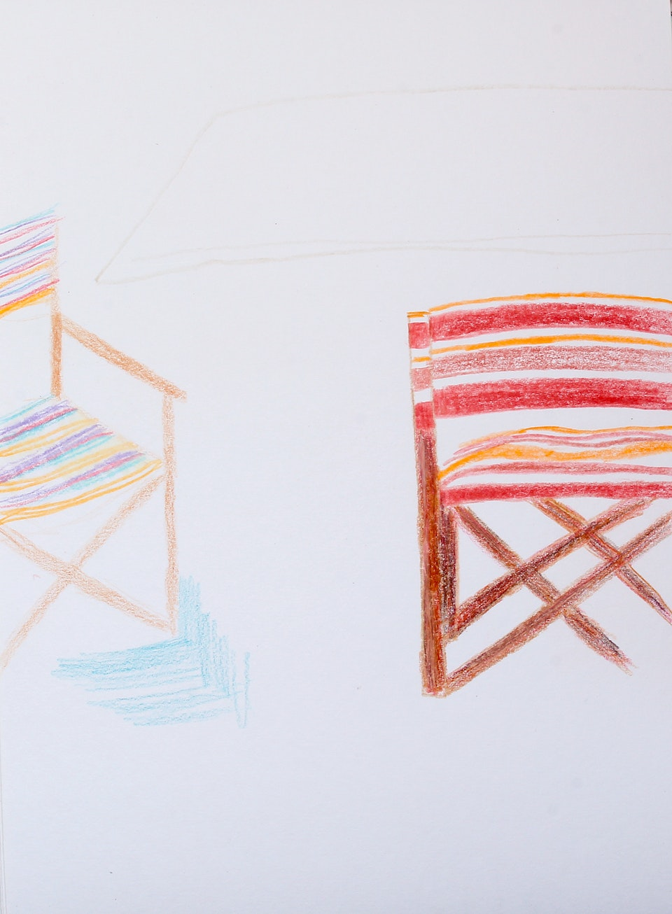 Domestic - Chairs - 2020 Colour Pencil on Paper - 21 x 29 cm A4
