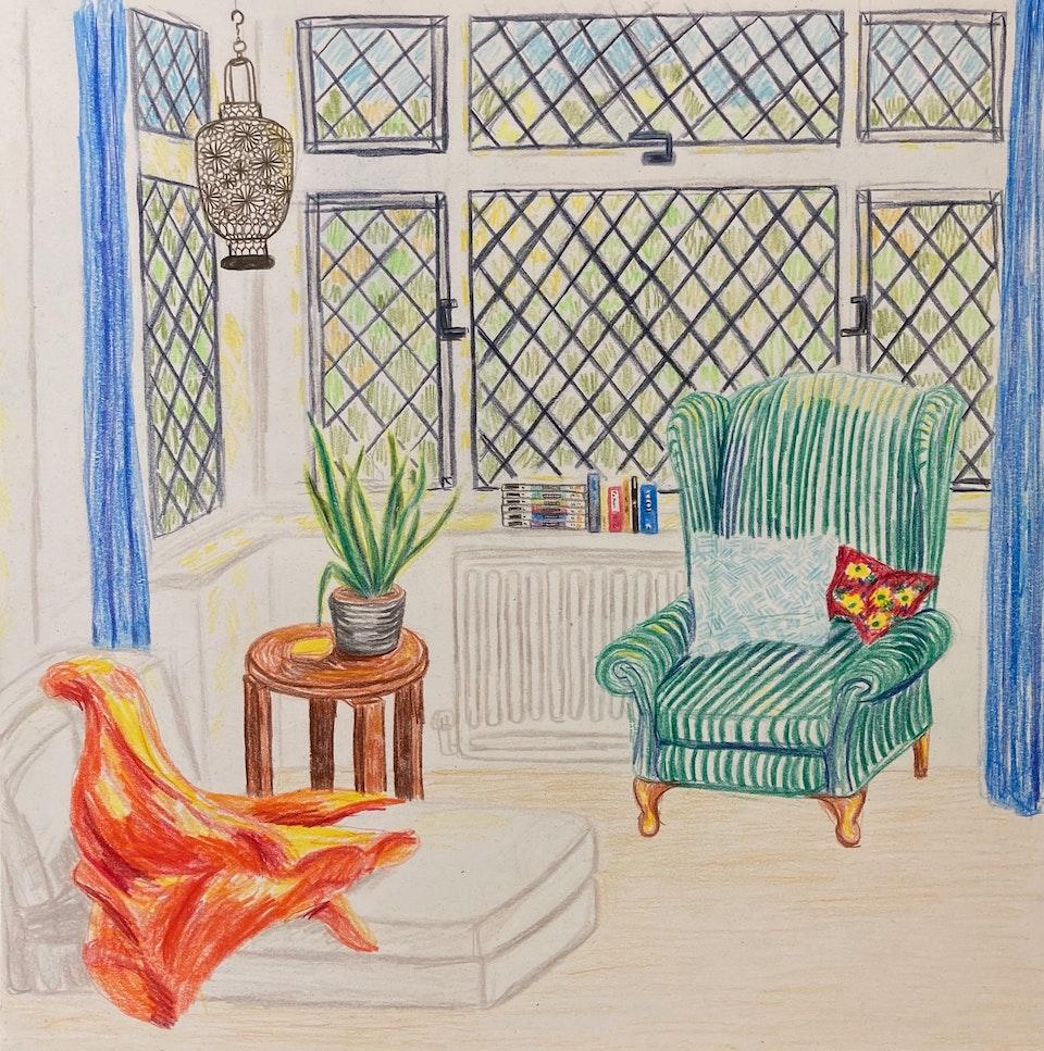 Domestic - Southcroft - 2020 - Pencil on Paper - 30.5 x 30.5 cm