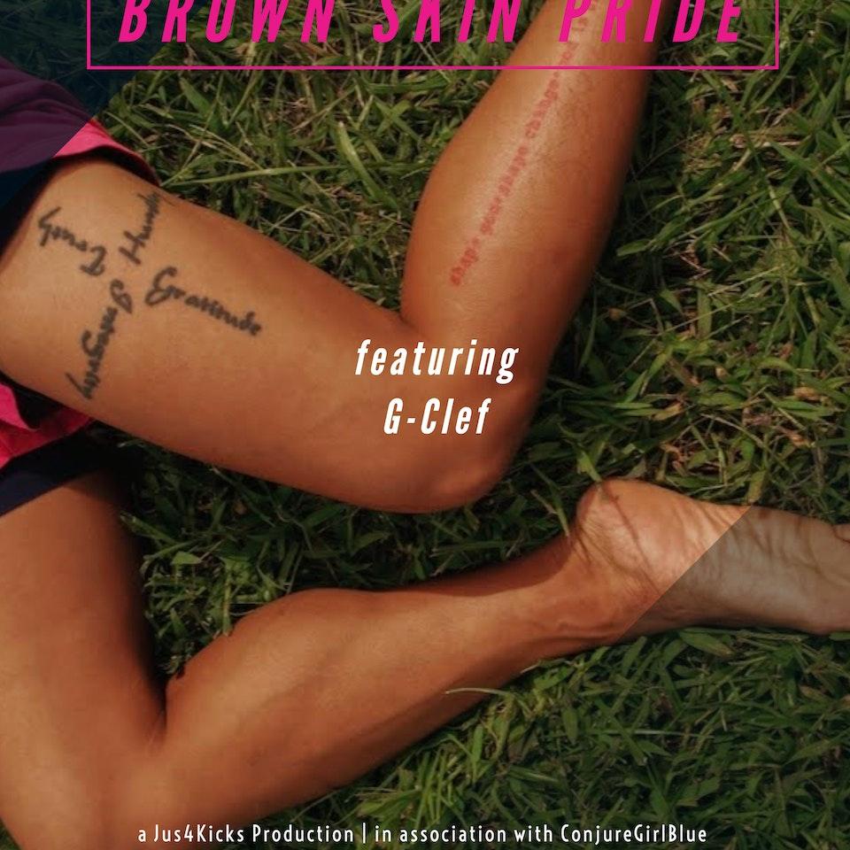 BROWN SKIN PRIDE - brown skin pride G-Clef poster