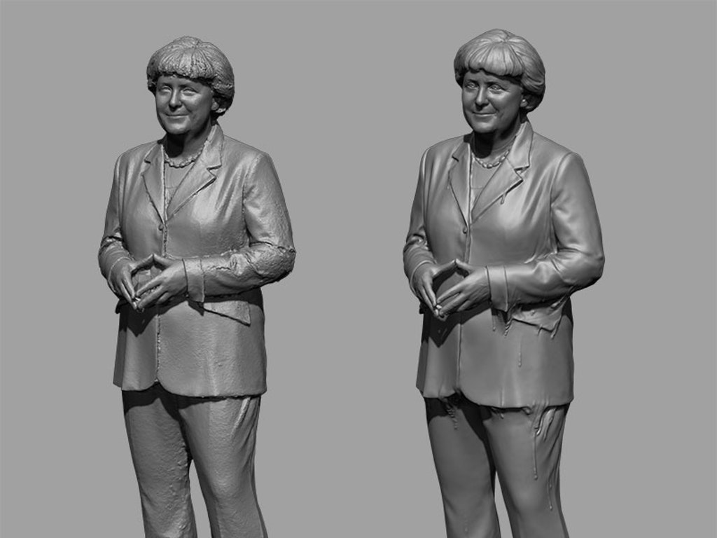 MELTING ANGELA MERKEL