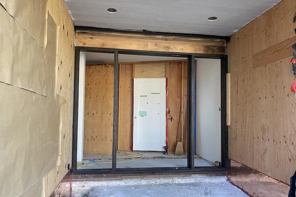 Door Installation- During