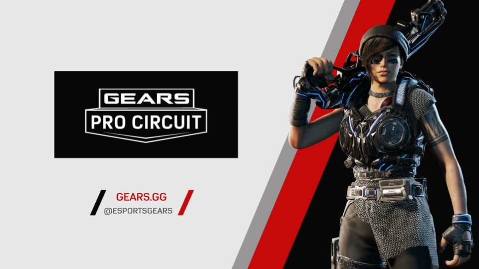 Gears Esports Collateral - Branded endplate designed and animated for use in Gears Esports video promos.