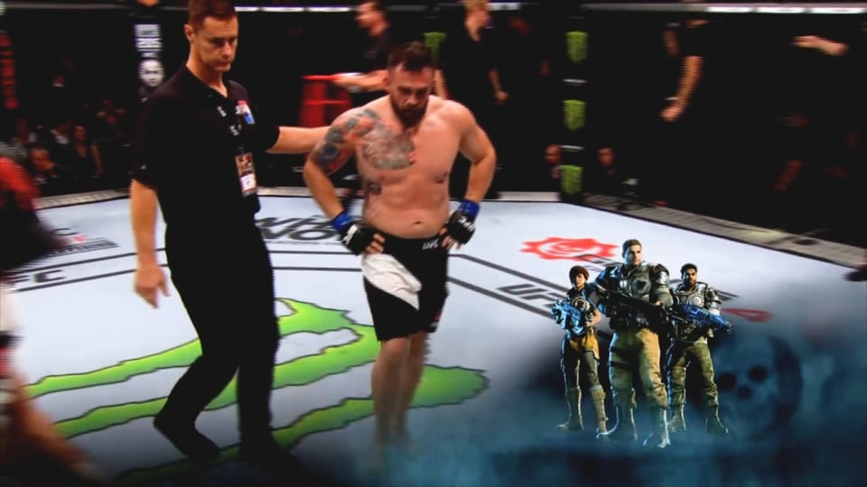 Gears of War 4 - Gears of War collaborated with UFC 204 and provided in-program promotion, which included: billboards, bumpers, corner cam lower 3rds, jita cam lower 3rds, in addition to prep point, presenting title card, and round card logo placements.