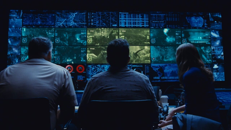 FUI/PLAYBACK GRAPHICS - Graphic design/FUI/playback graphics of video wall shots in Jurassic World (2015). Design by Tiz Beretta. Compositing/VFX/Animation by Image Engine Design Inc. 20 shots total.