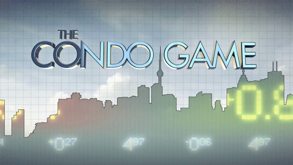Documentary in-show graphics - The Condo Game is a documentary on CBC's Doc Zone, which looks behind the glittering glass to reveal the forces at play in a booming condo market, forces that experts say have helped drive real estate prices 30% higher than they should be.  Client: Bountiful Films  To see more animation, please visit: https://vimeo.com/berettadesigns
